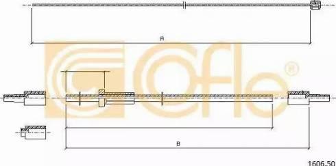 Cofle 1606.50 - Cięgno zamka pokrywy komory silnika intermotor-polska.com