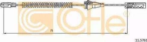 Cofle 11.5763 - Cięgno, hamulec postojowy intermotor-polska.com