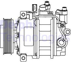 Delphi CS20546 - Kompresor, klimatyzacja intermotor-polska.com