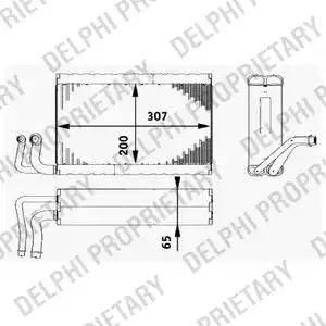 Delphi TSP0525182 - Parownik, klimatyzacja intermotor-polska.com