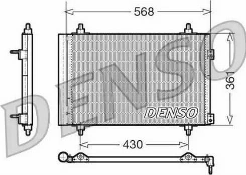 Denso DCN07008 - Skraplacz, klimatyzacja intermotor-polska.com