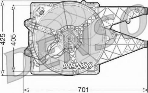 Denso DER09100 - Wentylator, chłodzenie silnika intermotor-polska.com