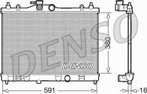 Denso DRM46040 - Chłodnica, układ chłodzenia silnika intermotor-polska.com
