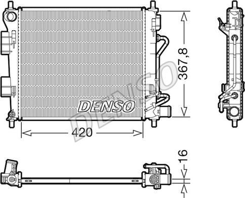 Denso DRM41018 - Chłodnica, układ chłodzenia silnika intermotor-polska.com
