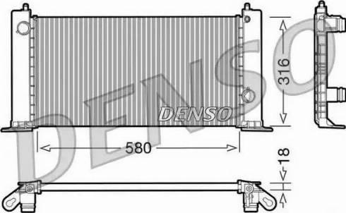Denso DRM09120 - Chłodnica, układ chłodzenia silnika intermotor-polska.com