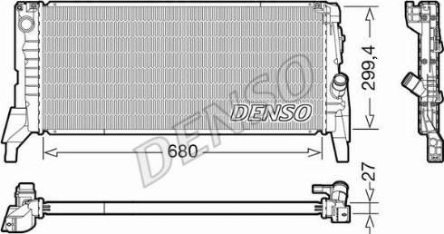Denso DRM05119 - Chłodnica, układ chłodzenia silnika intermotor-polska.com