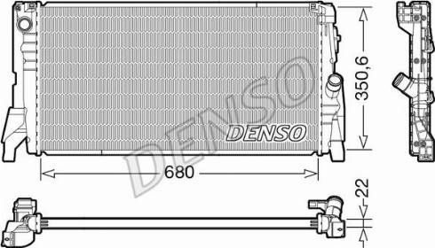 Denso DRM05118 - Chłodnica, układ chłodzenia silnika intermotor-polska.com