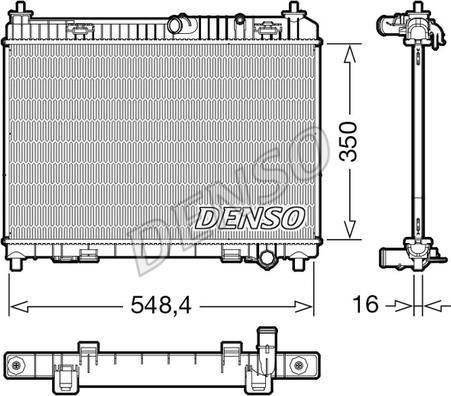 Denso DRM10113 - Chłodnica, układ chłodzenia silnika intermotor-polska.com