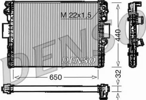Denso DRM12005 - Chłodnica, układ chłodzenia silnika intermotor-polska.com