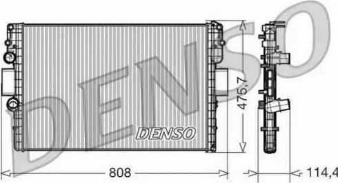 Denso DRM12010 - Chłodnica, układ chłodzenia silnika intermotor-polska.com