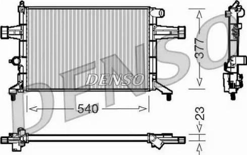 Denso DRM20082 - Chłodnica, układ chłodzenia silnika intermotor-polska.com