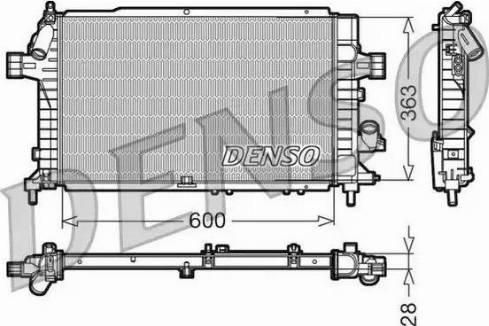 Denso DRM20104 - Chłodnica, układ chłodzenia silnika intermotor-polska.com