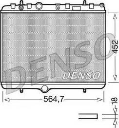 Denso DRM21055 - Chłodnica, układ chłodzenia silnika intermotor-polska.com