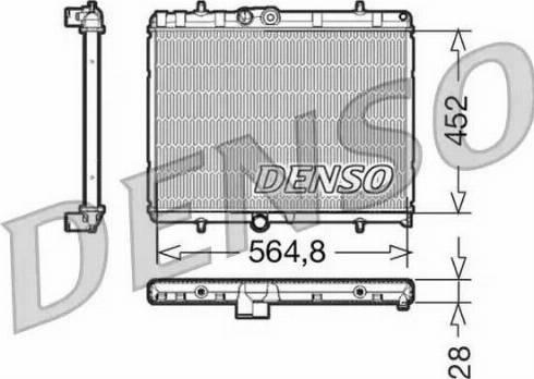 Denso DRM21057 - Chłodnica, układ chłodzenia silnika intermotor-polska.com