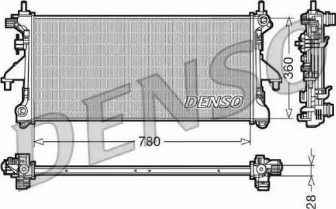 Denso DRM21101 - Chłodnica, układ chłodzenia silnika intermotor-polska.com