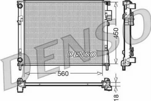 Denso DRM23095 - Chłodnica, układ chłodzenia silnika intermotor-polska.com