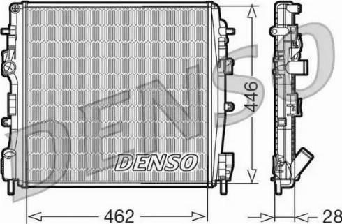 Denso DRM23018 - Chłodnica, układ chłodzenia silnika intermotor-polska.com