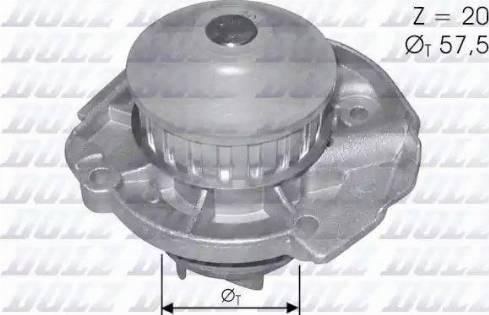 DOLZ S161 - Pompa wodna intermotor-polska.com