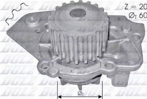 DOLZ T136 - Pompa wodna intermotor-polska.com