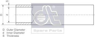 DT Spare Parts 9.86106 - Rura intermotor-polska.com