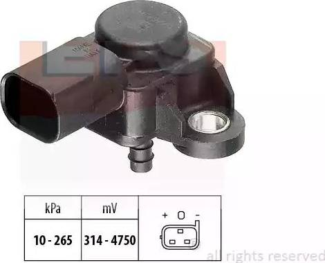 EPS 1.993.102 - Czujnik, ciżnienie spalin intermotor-polska.com