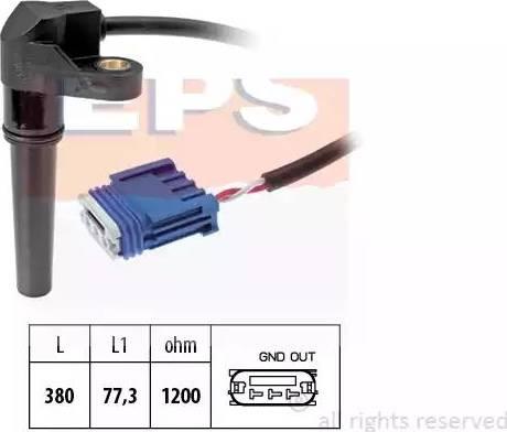 EPS 1.953.618 - Czujnik prędkożci obrotowej, automatyczna skrzynia biegów intermotor-polska.com