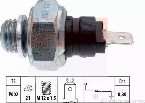 EPS 1.800.001 - Włącznik ciżnieniowy oleju intermotor-polska.com