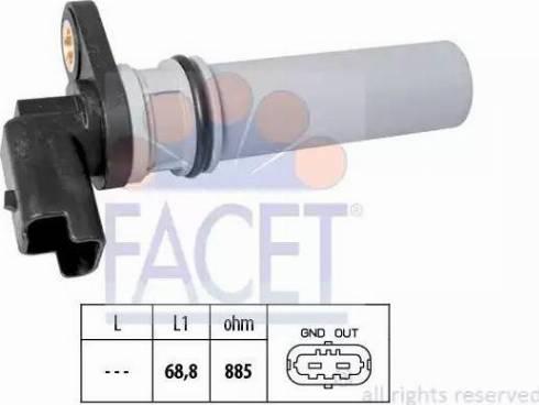 FACET 9.0537 - Czujnik prędkożci obrotowej, automatyczna skrzynia biegów intermotor-polska.com