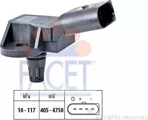 FACET 10.3157 - Czujnik ciżnienia, wzmacniacz siły hamowania (servo) intermotor-polska.com