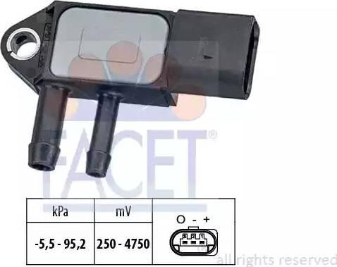 FACET 10.3263 - Czujnik, ciżnienie spalin intermotor-polska.com