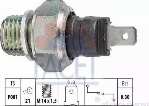 FACET 7.0000 - Włącznik ciżnieniowy oleju intermotor-polska.com