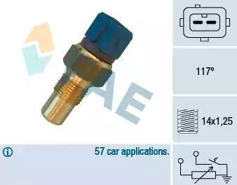 FAE 34440 - Czujnik, temperatura głowicy cylindra intermotor-polska.com