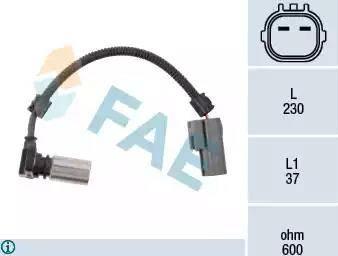 FAE 79085 - Czujnik prędkożci obrotowej, automatyczna skrzynia biegów intermotor-polska.com