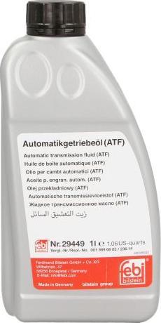 Febi Bilstein 29449 - Olej do automatycznej skrzyni biegów intermotor-polska.com