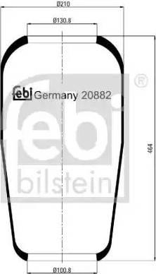 Febi Bilstein 20882 - Mieszek, klimatyzacja intermotor-polska.com