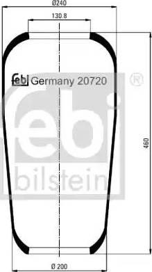 Febi Bilstein 20720 - Mieszek, klimatyzacja intermotor-polska.com