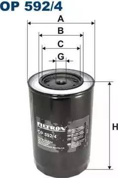 Filtron OP 592/4 - Filtr hydrauliczny, automatyczna skrzynia biegów intermotor-polska.com