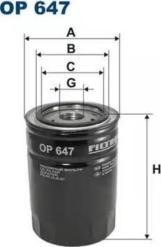 Filtron OP 647 - Filtr, hydraulika sterownicza intermotor-polska.com