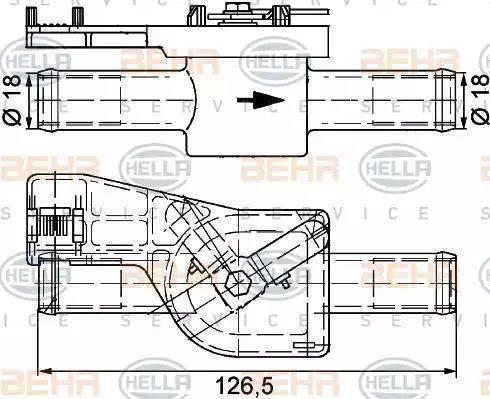 HELLA 9XL 351 328-091 - Zawór sterujący, płyn chłodzący intermotor-polska.com