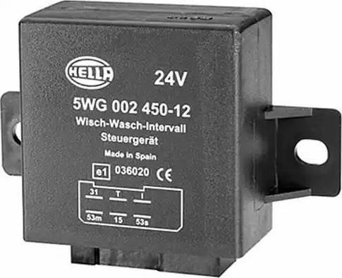 HELLA 5WG 002 450-111 - Przekaznik, przerywacz pracy wycieraczek intermotor-polska.com