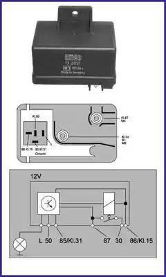 Hitachi 132051 - Przekaznik, układ ogrzewania wstępnego intermotor-polska.com