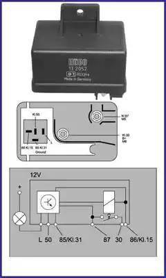 Hitachi 132052 - Przekaznik, układ ogrzewania wstępnego intermotor-polska.com
