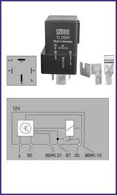 HITACHI 132060 - Przekaznik, układ ogrzewania wstępnego intermotor-polska.com