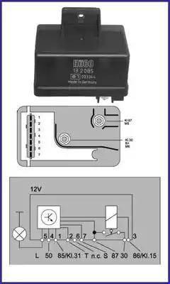 Hitachi 132085 - Przekaznik, układ ogrzewania wstępnego intermotor-polska.com