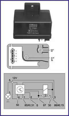 Hitachi 132081 - Przekaznik, układ ogrzewania wstępnego intermotor-polska.com