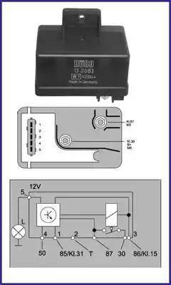 Hitachi 132083 - Przekaznik, układ ogrzewania wstępnego intermotor-polska.com