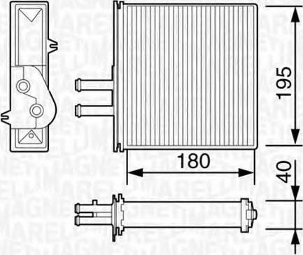 Magneti Marelli 350218057003 - Wymiennik ciepła, ogrzewanie wnętrza intermotor-polska.com