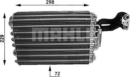 Mahle Original AE 31 000S - Parownik, klimatyzacja intermotor-polska.com