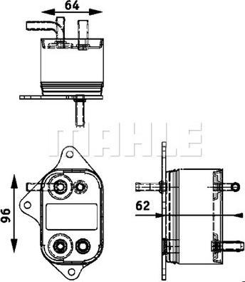 Mahle Original CK 9 000P - Chłodnica paliwa intermotor-polska.com