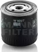 Mann-Filter W 920/7 - Filtr, hydraulika sterownicza intermotor-polska.com